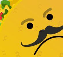 Taco Face Unhappy Pun Sticker