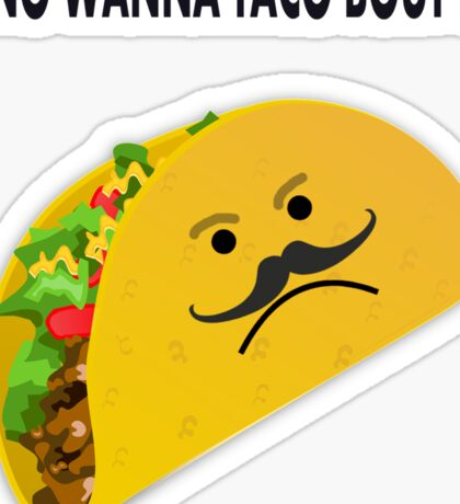 Taco Face Unhappy Pun Sticker