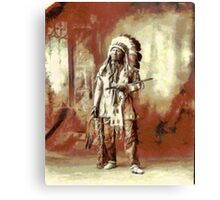 Chief American Horse, Sioux indian 1899 Canvas Print