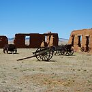 Wagons and Barracks, Fort Union New Mexico by JBoyer