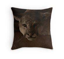 Magnificent Exciting Dangerous - The Mountain Lion Throw Pillow