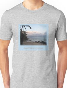 Sunset Beach Reflections Unisex T-Shirt