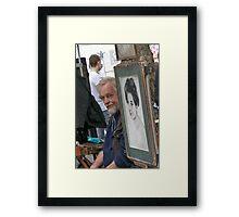 Inviting Smile Framed Print