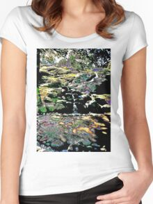 Finnish stream in Autumn Women's Fitted Scoop T-Shirt