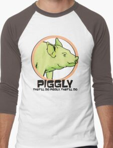 Piggly (also known as Piggly 3) Men's Baseball ¾ T-Shirt