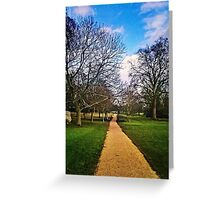 path in london park Greeting Card
