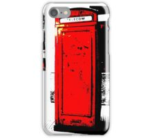 red box iPhone Case/Skin
