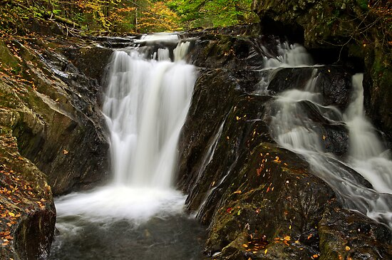 Falls Along Waterman Brook - Close Up by Stephen Beattie