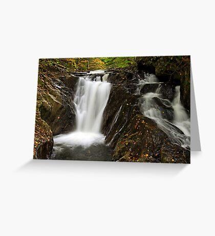 Falls Along Waterman Brook - Close Up Greeting Card