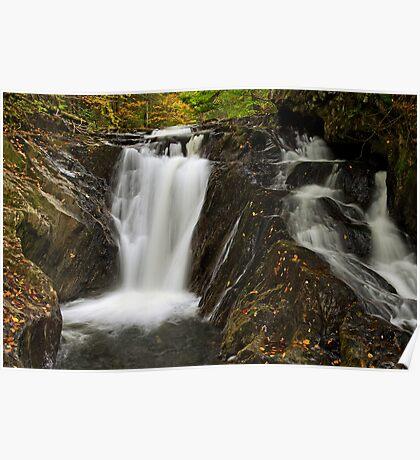 Falls Along Waterman Brook - Close Up Poster