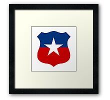 Chilean Air Force - Roundel Framed Print