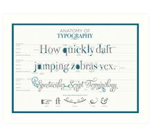 Anatomy of Typography Art Print