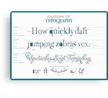 Anatomy of Typography Canvas Print
