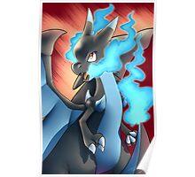 Mega Charizard X Poster