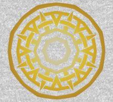 Wheel of Swords - Gold One Piece - Long Sleeve
