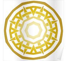 Wheel of Swords - Gold Poster