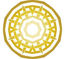 Wheel of Swords - Gold Photographic Print
