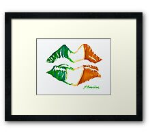 Kiss Me, I'm Irish Framed Print