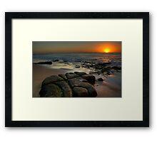 SUNRISE BAR BEACH Framed Print