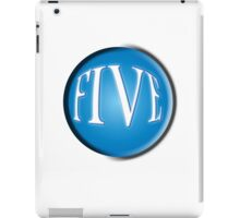 FIVE BALL, FIFTH, NUMBER 5, 5, TEAM SPORTS, Competition, BLACK iPad Case/Skin