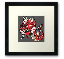 Red Gyrados GBC Framed Print