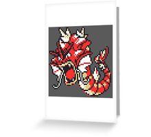 Red Gyrados GBC Greeting Card