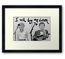 I will lay me down Framed Print