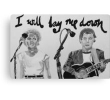 I will lay me down Canvas Print