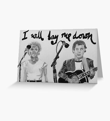 I will lay me down Greeting Card