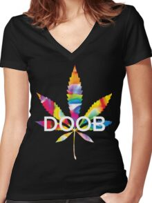 Trippy Doob Women's Fitted V-Neck T-Shirt