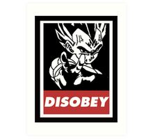 Vegeta Disobey Art Print