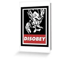 Vegeta Disobey Greeting Card