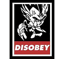 Vegeta Disobey Photographic Print