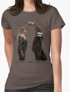 Clexa - Love is weakness Womens Fitted T-Shirt