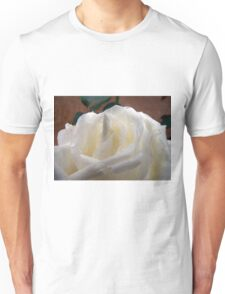 Macro of white rose 3 Unisex T-Shirt