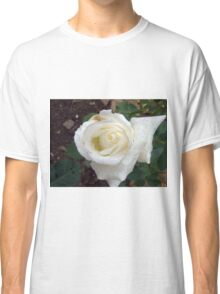 Close up of white rose 20 Classic T-Shirt