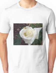 Close up of white rose 20 Unisex T-Shirt