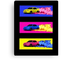 Subaru STi Drift in Color Canvas Print