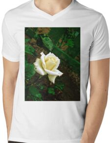Little white rose 3 Mens V-Neck T-Shirt