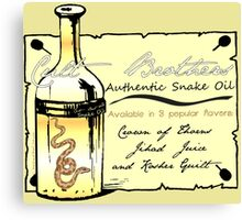 CULT BROTHERS SNAKE OIL Canvas Print
