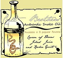 CULT BROTHERS SNAKE OIL Photographic Print