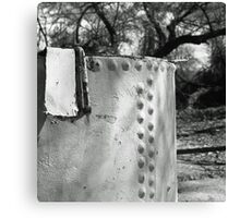 Steel Tank in the Woods Canvas Print