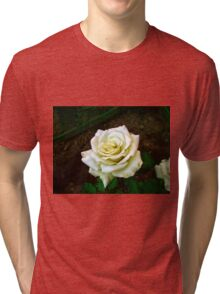Little white rose 6 Tri-blend T-Shirt