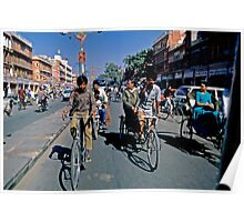 Street of Jaipur from taxi Poster