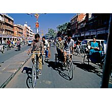 Street of Jaipur from taxi Photographic Print