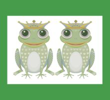 Two Frogs With Crowns Kids Clothes