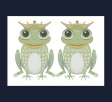Two Frogs With Crowns Kids Tee