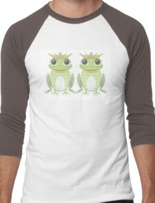 Two Frogs With Crowns Men's Baseball ¾ T-Shirt
