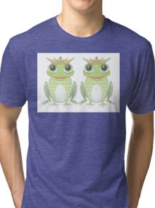 Two Frogs With Crowns Tri-blend T-Shirt