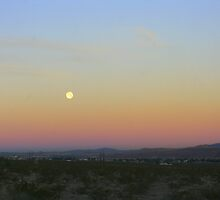 Moon over the Mojave Desert by CynLynn